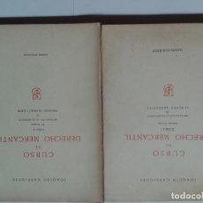 Libros de segunda mano: CURSO DE DERECHO MERCANTIL TOMO I Y II 1982 JOAQUÍN GARRIGUES . Lote 128749983