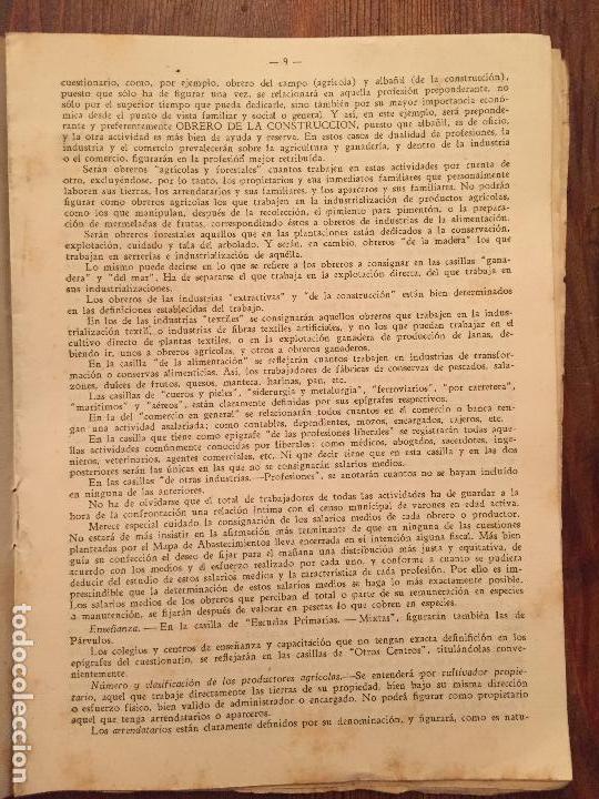 Libros de segunda mano: Antiguas instrucciones complementarias para la confeccion de mapa municipal de abastecimiento año 45 - Foto 3 - 128874271