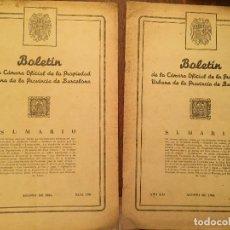 Libros de segunda mano: ANTIGUOS 2 BOLETÍN DE LA CÁMARA OFICIAL DE LA PROPIEDAD URBANA DE LA PROVÍNCIA DE BARCELONA AÑO 1946. Lote 128886559