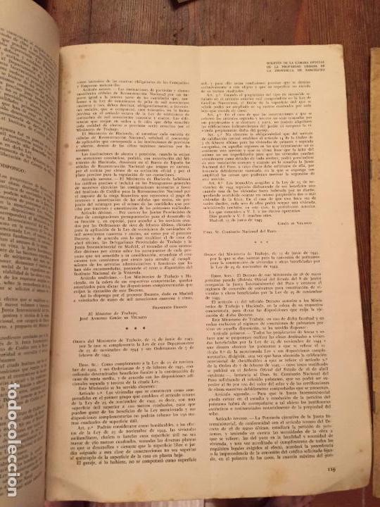 Libros de segunda mano: Antiguos 2 boletín de la Cámara oficial de la propiedad Urbana de la Província de Barcelona año 1946 - Foto 5 - 128886559