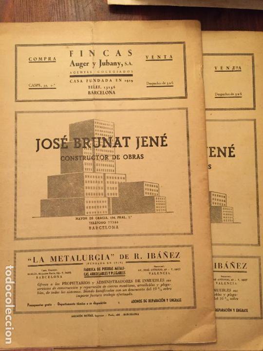Libros de segunda mano: Antiguos 2 boletín de la Cámara oficial de la propiedad Urbana de la Província de Barcelona año 1946 - Foto 7 - 128886559