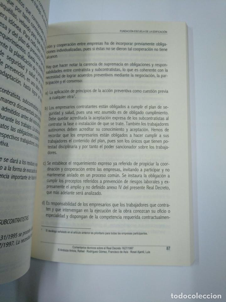 Libros de segunda mano: COMENTARIOS TECNICOS SOBRE LA COORDINACION EN MATERIA DE SEGURIDAD Y SALUD EN LAS OBRAS. TDK307 - Foto 2 - 130423386