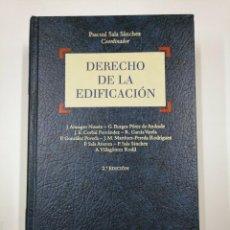 Libros de segunda mano: DERECHO DE LA EDIFICACION. PASCUAL SALA SANCHEZ. BOSCH. TDK307. Lote 130424158