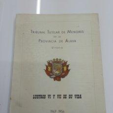 Libros de segunda mano: TRIBUNAL TUTELAR DE MENORES PROVINCIA ALAVA 1947 1956 PAIS VASCO FOTOGRAFIAS CURSOS HISTORIA MEMORIA. Lote 130424580