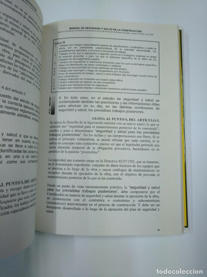 Libros de segunda mano: MANUAL DE SEGURIDAD Y SALUD EN LA CONSTRUCCION. PEDRO-ANTONIO BEGUERIA LATORRE. TDK307 - Foto 2 - 130479322