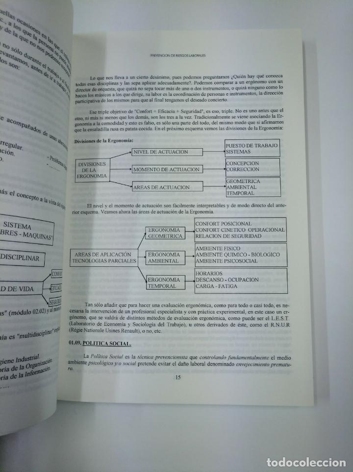 Libros de segunda mano: PREVENCION INTEGRAL E INTEGRADA DE RIESGOS LABORALES. JUAN ALFONSO SREVENGA CASO. TDK307 - Foto 2 - 130479538