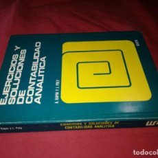 Libros de segunda mano: EJERCICIOS Y SOLUCIONES DE CONTABILIDAD ANALITICA J. POLY A. RAPIN EDICIONES DEUSTO. Lote 130499566