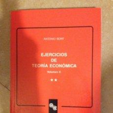Libros de segunda mano: EJERCICIOS DE TEORÍA ECONÓMICA VOLUMEN II (ANTONIO BORT). Lote 130528484