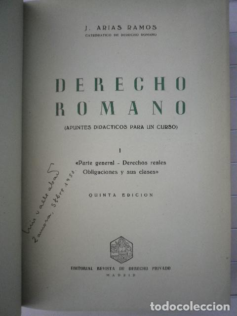 Libros de segunda mano: José Arias Ramos - Derecho Romano [2 tomos] - Editorial Revista de Derecho Privado - Foto 3 - 131207664