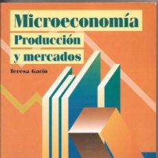 Libros de segunda mano: MICROECONOMÍA. PRODUCCIÓN Y MERCADOS. TERESA GARCÍA. ED.CENTRO DE ESTUDIOS RAMÓN ARECES, 1998. Lote 131522506