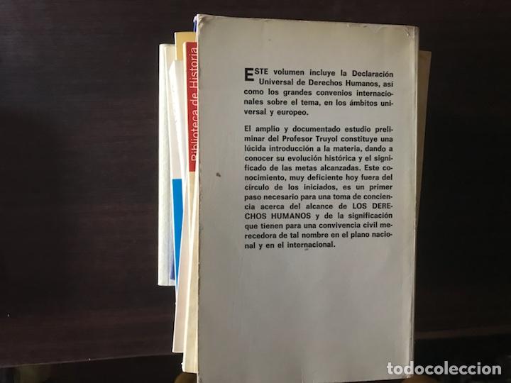 Libros de segunda mano: Los derechos humanos. Tecnos - Foto 2 - 132016642