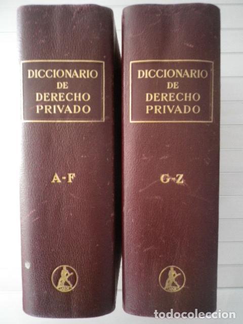 DICCIONARIO DE DERECHO PRIVADO. 2 TOMOS - EDITORIAL LABOR (Libros de Segunda Mano - Ciencias, Manuales y Oficios - Derecho, Economía y Comercio)