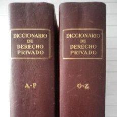 Libros de segunda mano: DICCIONARIO DE DERECHO PRIVADO. 2 TOMOS - EDITORIAL LABOR. Lote 132440178