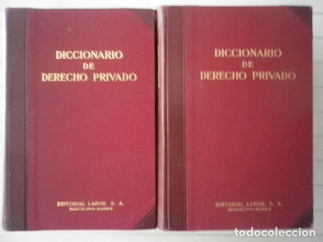 Libros de segunda mano: Diccionario de Derecho Privado. 2 tomos - Editorial Labor - Foto 2 - 132440178