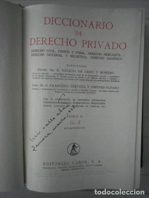 Libros de segunda mano: Diccionario de Derecho Privado. 2 tomos - Editorial Labor - Foto 4 - 132440178