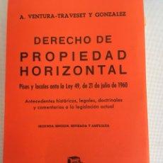 Libros de segunda mano: LIBRO DERECHO DELA PROPIEDAD HORIZOBTAL. Lote 133555838
