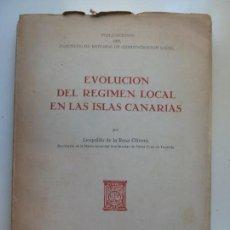 Livros em segunda mão: EVOLUCIÓN DEL RÉGIMEN LOCAL EN LAS ISLAS CANARIAS. DE LA ROSA. 1946. Lote 133721454