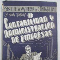 Libros de segunda mano - CONTABILIDAD Y ADMINISTRACIÓN DE EMPRESAS. BALDOMERO CERDÁ RICHART. 1943 - 133800690