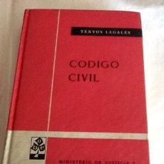 Libros de segunda mano: CÓDIGO CIVIL EDICIÓN OFICIAL TEXTOS LEGALES N. 13 OCTAVA ED. 1974 BOE. Lote 134007353