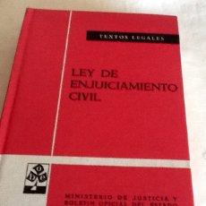 Libros de segunda mano: LEY DE ENJUICIAMIENTO CIVIL EDICIÓN OFICIAL TEXTOS LEGALES N. 35 CUARTA ED. 1974 BOE. Lote 134007661