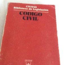 Libros de segunda mano: CÓDIGO CIVIL ED. CIVITAS BIBLIOTECA DE LEGISLACIÓN 1976 TERCERA ED.. Lote 134008366