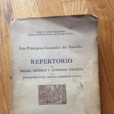 Libros de segunda mano: REPERTORIO DE REGLAS MAXIMAS Y AFORISMOS JURIDICOS JAIME M, MANS PUIGARNAU. Lote 134018670
