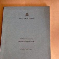 Libros de segunda mano: APUNTES DE DERECHO CIVIL SOBRE CONTRATOS EN PARTICULAR VICENTE MONTES PANADES UNIVERSIDAD DE OVIEDO. Lote 134073891