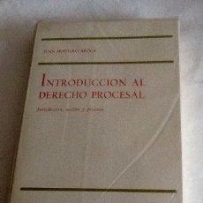 Libros de segunda mano: INTRODUCCIÓN AL DERECHO PROCESAL JUAN MONTERO AROCA TECNOS 1976 305 PGS. Lote 134258694