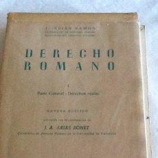 Libros de segunda mano: DERECHO ROMANO TOMOS I Y II ARIAS RAMOS Y ARIAS BONET ED REVISTA DE DERECHO PRIVADO 1963. Lote 134367622