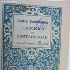 Libros de segunda mano: CUADERNO COMPLEMETARIO DE EJERCICIOS DE CONTABILIDAD Nº 23 AÑO 1935. Lote 134370514