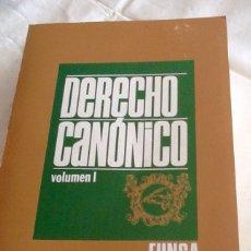 Libros de segunda mano: DERECHO CANÓNICO VOLUMENES I Y II VVAA EUNSA 1974. Lote 134499946