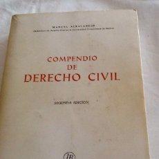 Libros de segunda mano: COMPENDIO DE DERECHO CIVIL SEGUNDA ED MANUEL ALBALADEJO 1974 LIBRERÍA BOSCH 631 PGS. Lote 134817545