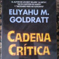 Libros de segunda mano: CADENA CRÍTICA ELIYAHU M. GOLDRATT GESTIÓN MARKETING. Lote 134901402