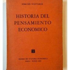 Libros de segunda mano: HISTORIA DEL PENSAMIENTO ECONÓMICO. Lote 134965030
