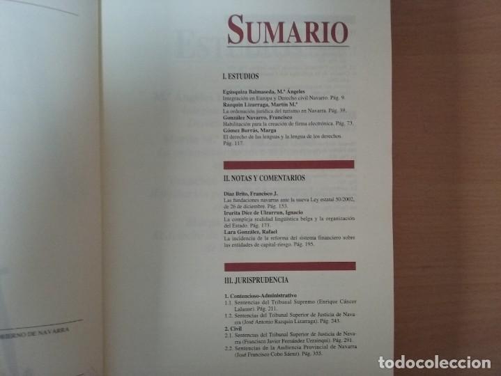 Libros de segunda mano: REVISTA JURIDICA DE NAVARRA. Nº 35. ENERO - JUNIO 2003 - Foto 4 - 135026638
