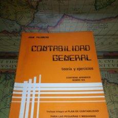 Libros de segunda mano: CONTABILIDAD GENERAL. TEORÍA Y EJERCICIOS. . Lote 135216754