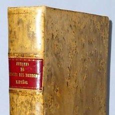 Libros de segunda mano: ANUARIO DE HISTORIA DEL DERECHO ESPAÑOL. TOMO XXIX. (1959). Lote 136165378