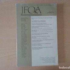 Libros de segunda mano: JFQA. JOURNAL OF FINANCIAL AND QUANTITATIVE ANALYSIS VOL.43, NO.3 SETEMBER 2008. Lote 136822806