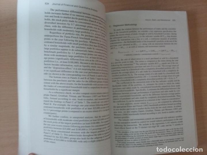 Libros de segunda mano: JFQA. JOURNAL OF FINANCIAL AND QUANTITATIVE ANALYSIS VOL.43, NO.3 SETEMBER 2008 - Foto 3 - 136822806