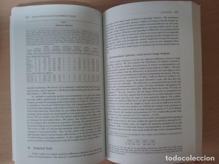 Libros de segunda mano: JFQA. JOURNAL OF FINANCIAL AND QUANTITATIVE ANALYSIS VOL.43, NO.3 SETEMBER 2008 - Foto 5 - 136822806