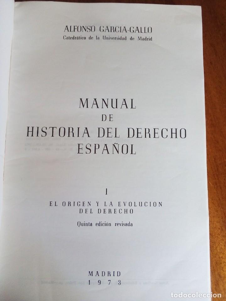 Libros de segunda mano: El origen y la evolución del derecho. Alfonso García-Gallo. 1.973 - Foto 2 - 137291722