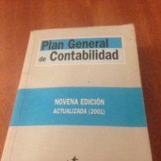 Libros de segunda mano: PLAN GENERAL DE CONTABILIDAD. Lote 137988430