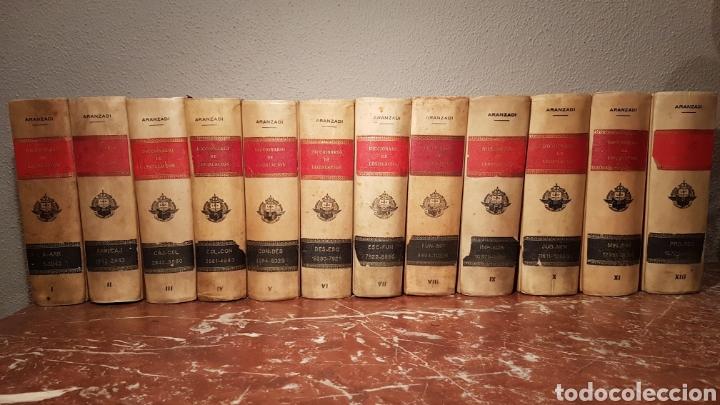 LIBROS DECORACIÓN. 12 ARANZADI DEL AÑO 1951. DICCIONARIO DE LEGISLACIÓN (Libros de Segunda Mano - Ciencias, Manuales y Oficios - Derecho, Economía y Comercio)