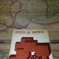 Libros de segunda mano: JUEGOS DE EMPRESA. JOSÉ MANUEL RODRÍGUEZ CARRASCO. ESIC 1975.. Lote 138773622