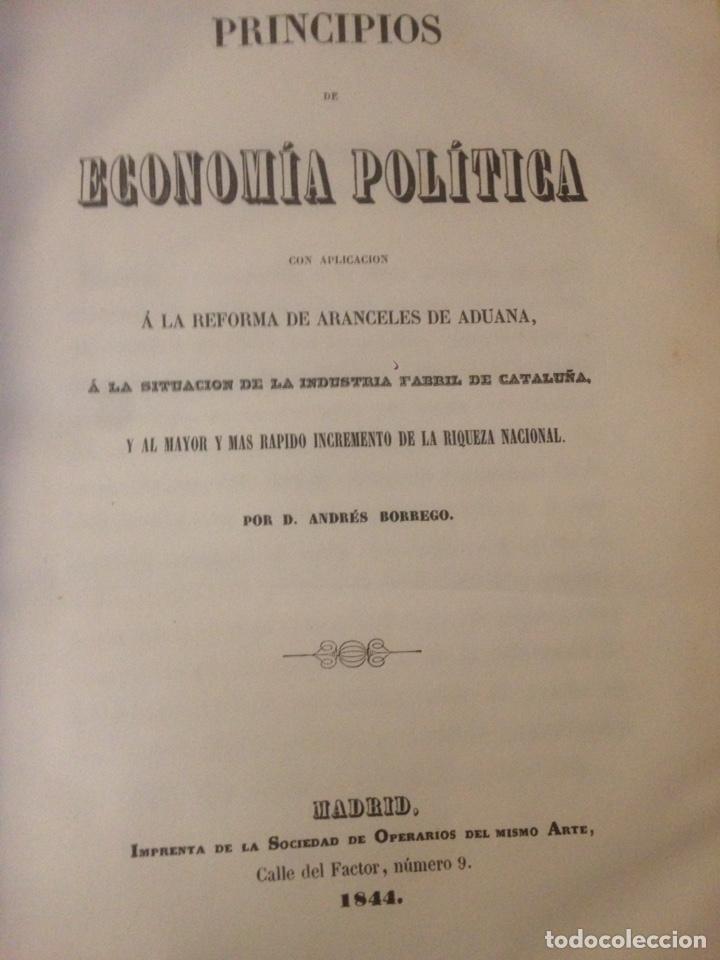 Libros de segunda mano: PRINCIPIOS DE ECONOMÍA POLÍTICA - Por Andrés Borrego - Foto 2 - 139018764
