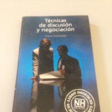 Libros de segunda mano: TECNICAS DE DISCUSION Y NEGOCIACION,(DIRECCION DE PERSONAL Y EMPRESAS) FRANZ GOOSSENS. Lote 139055766