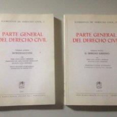 Libros de segunda mano: LOTE NUEVA PARTE GENERAL DEL DERECHO CIVIL. Lote 139411374