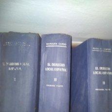 Libros de segunda mano: EL DERECHO LOCAL ESPAÑOL. Lote 139591682