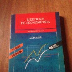 Libros de segunda mano: EJERCICIOS DE ECONOMETRÍA. Lote 139714021