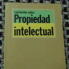 Libros de segunda mano: LEGISLACIÓN SOBRE PROPIEDAD INTELECTUAL - EDITORIAL TECNOS - 1987. Lote 139779982